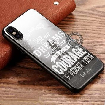 All Our Dreams Waltz Disney Quote iPhone X 8 7 Plus 6s Cases Samsung Galaxy S8 Plus S7 edge NOTE 8 Covers #iphoneX #SamsungS8