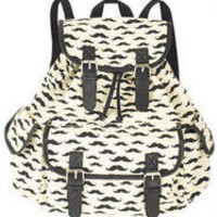 Mixed Mustache Backpack