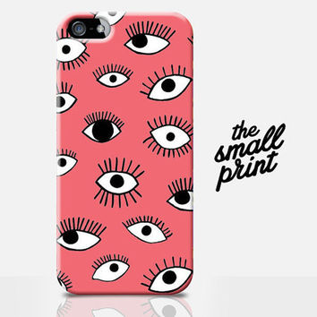 EYE Pattern iPhone case, iPhone Case, eyes pattern, trendy iphone case, case for iPhone, hipster phone case, cool phone case, coral iphone