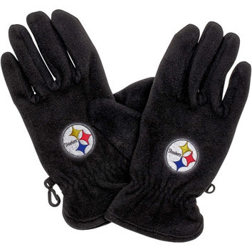 Pittsburgh Steelers NFL Fleece Glove - Black
