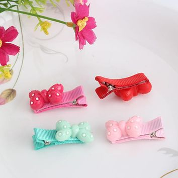 New Colorful Resin Baby Hair Clips Cartoon Cat Sheep Hairpins Children Hair Accessories Circle Protect Well Wrapped Hair Clip