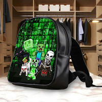 Minecraft Monster Design Backpack, School Bag, Bag Kids Fun and Be Your Self