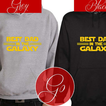 Dart Vader best dad in the galaxy Hoodie Sweatshirt Sweater Shirt black and white Unisex