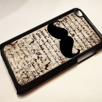 Vintage Text and Mustache  ---  iPod 4G case, iPod 4G cover, iPod 4G