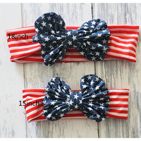 Mommy and Me Headband Baby Knot headband  Head Wrap Girls Hair Accessories 4th of July