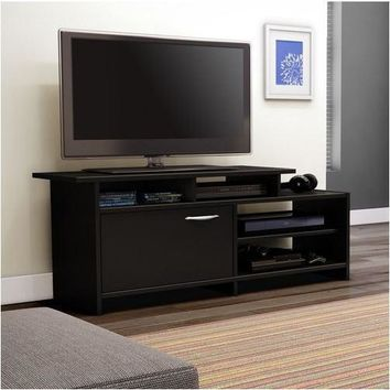 52 Inch Modern TV Stand In Black Finish