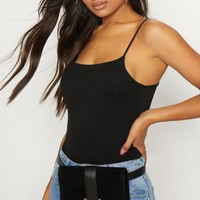 Black Suede Western Belt Bag