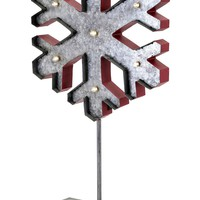 Homestead Christmas Large Lighted Snowflake On Stand