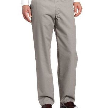 Lee Men's Total Freedom Relaxed Fit Flat Front Pant - 36W x 32L - Gray