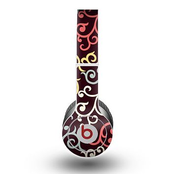 The Pink, Yellow and Blue Vector Swirls Skin for the Beats by Dre Original Solo-Solo HD Headphones