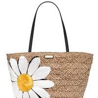 down the rabbit hole straw daisy tote