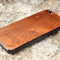 Redwood Burl iPhone 5 Real Wood Skin (Front & Back Cover) Made in the USA - FREE Shipping