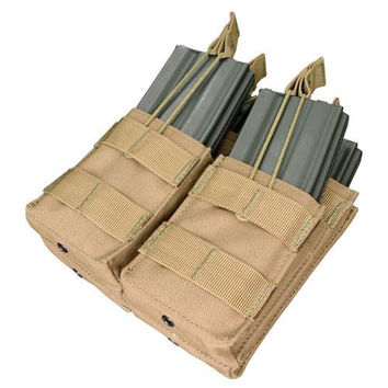 Double Stacker M4 Magazine Pouch (Hold 4 Mags) Color: Coyote Tan