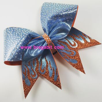 Flames bow  with rhinestones. You choose bow color.
