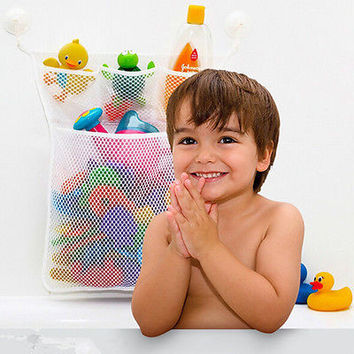 1x   Baby Bath Bathtub Toy Mesh Net Storage Bag Organizer Holder Bathroom HU