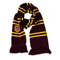 17CM*175CM New Fashion 4 Color College scarf Harry Potter Gryffindor Series scarf With Badge Personality Cosplay Knit Scarves