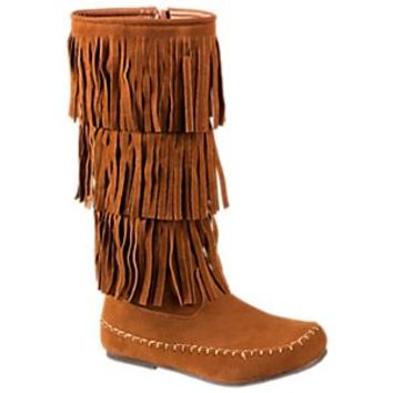 NEW Natural Reflections Aiyana Fringe Boots for Ladies - Tan