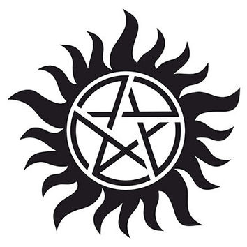 Supernatural Anti Possession Vinyl Sticker