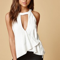 Honey Punch Choker Tie Front Top at PacSun.com