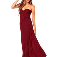 Red Maxi Dress with a Cross Back