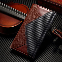 Genuine Leather Wallet Bag Case For iPhone 6 Plus luxury Envelope Style Women Flip Cover For iPhone 6/6S Plus Phone Pouch Cases