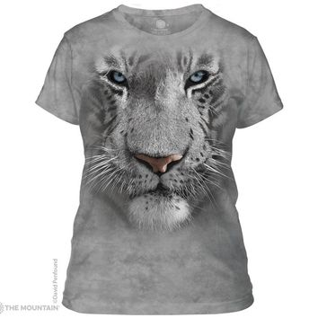 White Tiger Face Women's T-Shirt