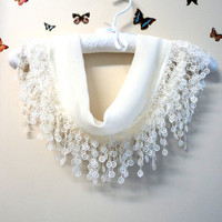 Cotton,Scarf,Shawl,Bandana,Headband,White ,Wedding ,Shawl,Triangle scarf""