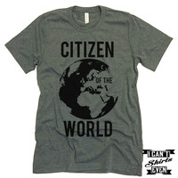 Citizen Of The World Tee. Shirt. Unisex Tshirt. Tee Shirt.
