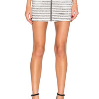 BCBGeneration Striped Skirt in Black Combo