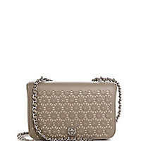 Tory Burch - Robinson Laser-Cut Saffiano Leather Shoulder Bag - Saks Fifth Avenue Mobile
