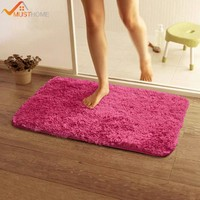 50*80cm/19.68*31.49in bath mat anti-slip Solid Home bathroom rugs bathroom carpet