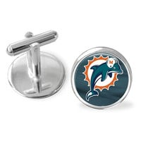 Football gift, Miami Marlins cuff links, Groomsman gift, sporty gift, gift under 25, footballl cuff links, gifts for men, pro football