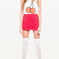 LIKE A BOWL OF CHERRIES MUSCLE TANK at Wildfox Couture in  -CLEAN WHITE, STRAWBERRY ICE