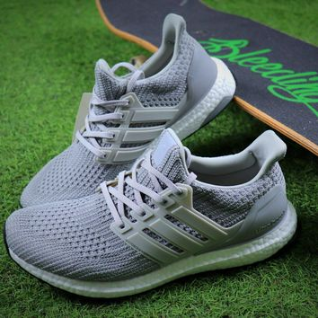 Adidas Ultra Boost UB 4.0 Silver Sport Running Shoes - Sale
