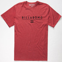 Billabong Frontliner Mens T-Shirt Heather Red  In Sizes