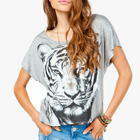 Tiger Face Tee with Cut Out Back