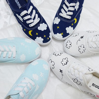 Harajuku hand-painted canvas shoes