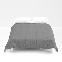 Geometric Abstract Lace P1 Duvet Cover by AlishaDawnCreations