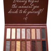 Pro Eyeshadow Palette Makeup Matte Shimmer 16 Colors Highly Pigmented Nudes Warm Shaddow