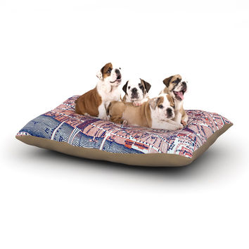 "Alison Coxon ""City Of London"" Map Dog Bed"