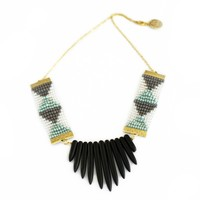 Black Beads Round Necklace