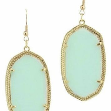 Kendra Scott Inspired Earrings in Seafoam(Coming Oct 15th)