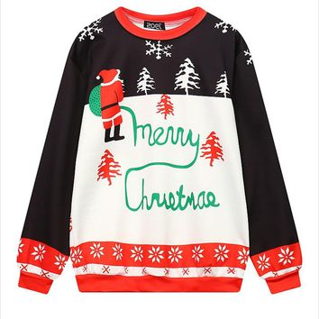 Christmas Patton Sweater 2018 New Stylish Unisex Men Women Santa Xmas Christmas Novelty Ugly Retro Jumper Warm Sweater