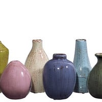 One Kings Lane - Chic Boutique - Asst. of 6 Mini Tuscany Vases
