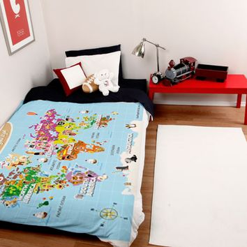 Best world map duvet products on wanelo for Boys rugby bedroom ideas