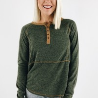 Olive You Henley Tee