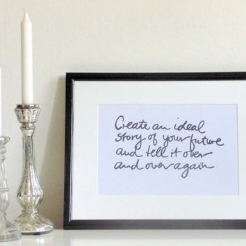 Create... - black on white - DIN A4 - Wall Art Print Quote handmade written - original by misssfaith