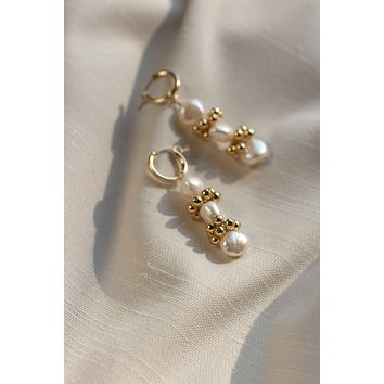 Baroque Eyelet Mini Hoop Earrings - Christine Elizabeth Jewelry