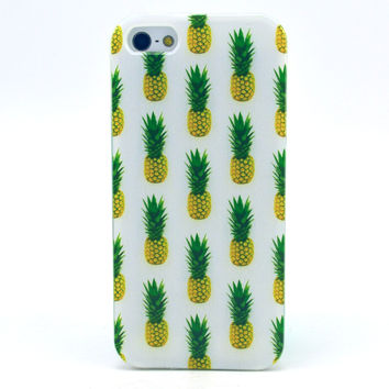 Pineapple Pattern Silicone TPU Case Cover Skin for iphone 5/5S 5C 6 4.7inch