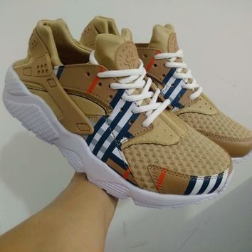 Best Online Sale Burberry x Nike Air Huarache 1 Men Women Mesh Hurache Sport Running S